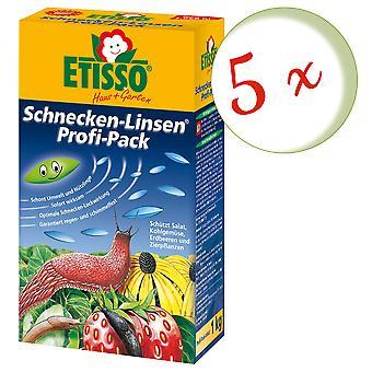 Sparset: 5 x FRUNOL DELICIA® Etisso® Schnecken-Linsen Power-Pack, 1 kg