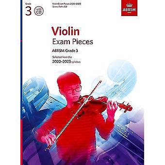 Peças do Exame de Violino 2020-2023, Abrsm Grade 3, Pontuação, Parte e Cd