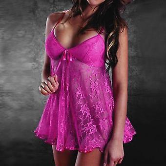 Sexy lingerie pizzo senza maniche biancheria intima G-string Sleepwear