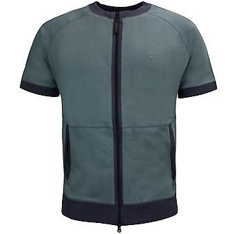 Nike Mens Zip Up T-Shirt Casual Crew Top Khaki 168143 355