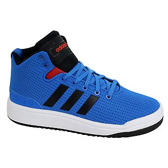 Adidas Originals Veritas Mid Junior Trainers Blue Black Lace Up Shoes S74890 D83