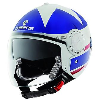 Caberg Riviera V2 America Motorcycle Helmet Matt Blue White Red ACU Approved XS