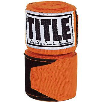 "Titel boksen 180"" Semi elastische Mexicaanse boksbandages - oranje"