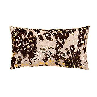 "Bucky Boy Decorative Lumbar Pillow 22""X12"", Brown/Gold"