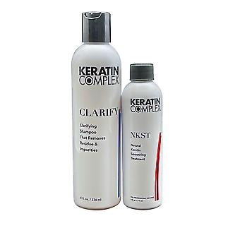 Keratin Complex Clarifying Shampoo 8 OZ & Keratin Smoothing Treatment 4 OZ Set