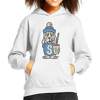 Slush Puppie Distressed 70's Logo Art Kid's Hooded Sweatshirt