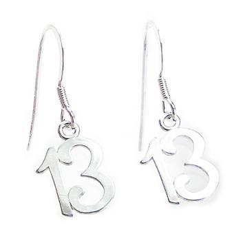 13e verjaardag Sterling Silver Oorbellen .925 X1 Dertien Oorbellen