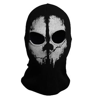 Hood Face Ghost Skull Mask, Halloween Skateboard Headgear Winter Hat