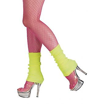 Leg warmers Ladies 32 Cm Neon yellow