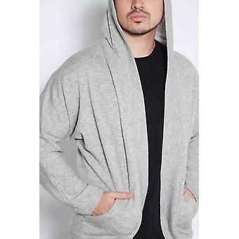 Cardigan de cachemira con capucha