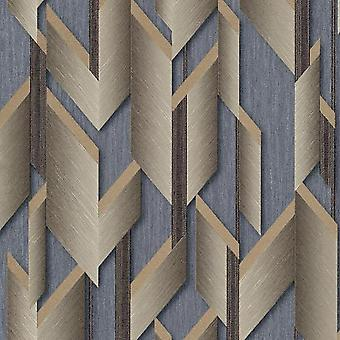 Fashion For Walls Silver Gold Wallpaper