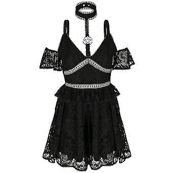 Restyle Pentagram Lace Dress