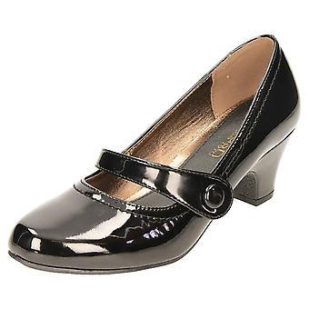 Krush Mid Heel Patent Court Shoes Mary Jane