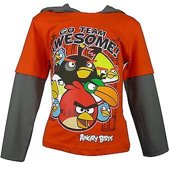 Pojat Angry Birds Hupullinen Pitkähihainen T-paita