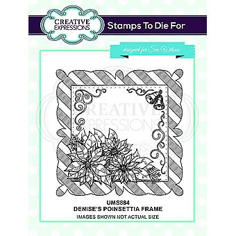 Kreative udtryk Denise's Poinsettia Frame Pre Cut Stamp Co-ords med CED3186