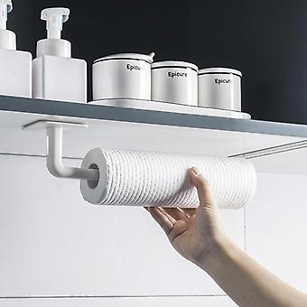Kitchen Self-adhesive Under Cabinet Paper Roll Rack, Towel Holder