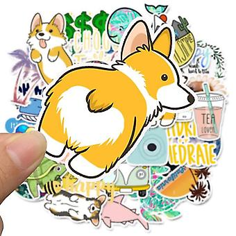 Cute Laptop Stickers 50 Pcs Cartoon Simple Tablet Decals For Toy Sticker