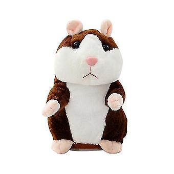 Stuffed Hamster Talking Toy Animal Voice Leaning Plush Doll 18cm