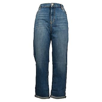 Chaps Women's Jeans Regular Cotton 5 Pocket Straight Leg Blue