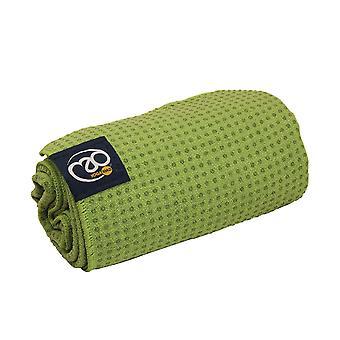 Fitness Mad agarre punto Yoga Mat toalla - verde