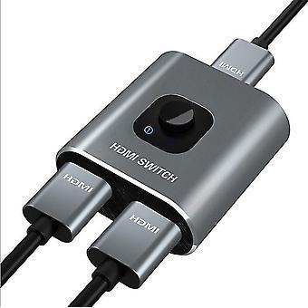 HDMI Switch 4k HDMI Splitter-GANA Aluminium Dubbelriktad HDMI-switch