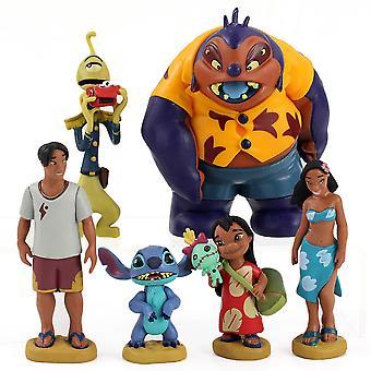 6 Stuks / lot Lilo Stitch Figure Toy Model Cake Decoratie