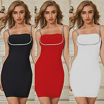 Summer Sexy Strap Evening Slip Dresses For Women Party Urbano Vintage Dress