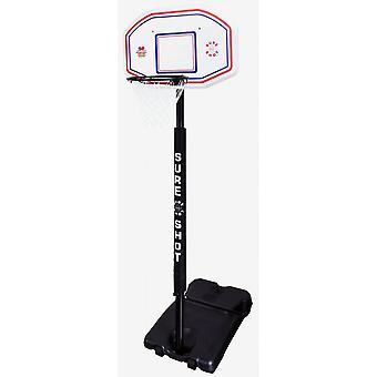Sure Shot Basketball Telescopic Portable Unit with EB Backboard and Pole Padding
