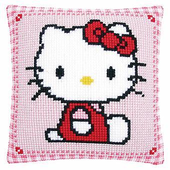 Vervaco Cross Stitch Kit: Cushion: Hello Kitty