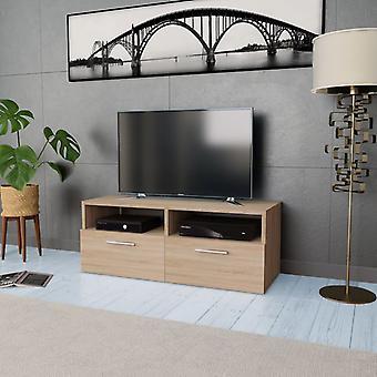 vidaXL TV armoire panneau de particules 95 x 35 x 36 cm chêne