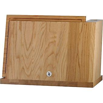 Magnet-Messerblock ohne Messer, mit Schneidebrett, unbestckt, Holz, Eichenholz, leer, fr 6 Messer, 1