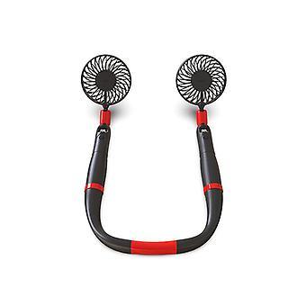 Mini licol de ventilateur usb chargeant l'affichage numérique détachable deux-en-un ventilateur sans lame de poche