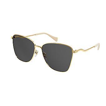 غوتشي GG0970S 001 الذهب / رمادي النظارات الشمسية