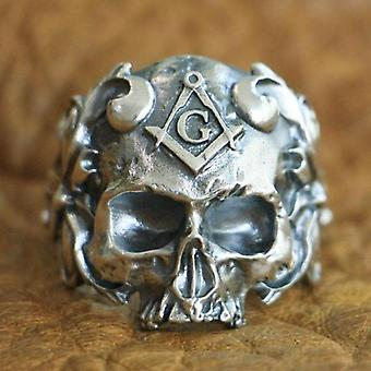 925 Sterling hopea muuraus kallo rengas
