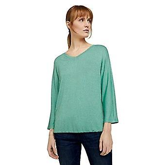 Tom Tailor 1024046 Batwing T-Shirt, 26045 Soft Leaf Green melange, M Femme