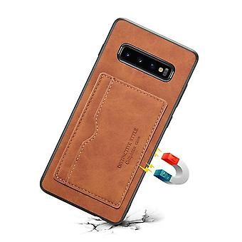Wallet leather case card slot for samsung note9 brown pc4804