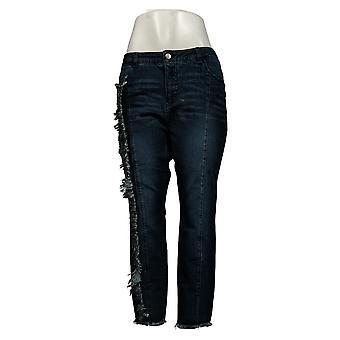 Dames Met Controle Dames Petite Jeans My Wonder Denim Fray Blauw A347387