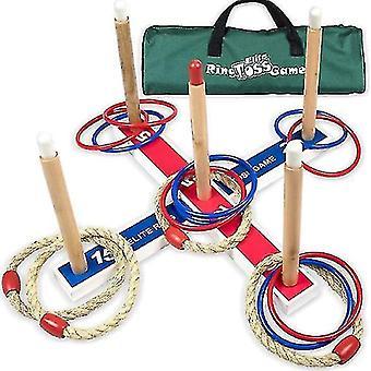 Elite utendørs spill for barn - ring toss yard spill for voksne og familie enkle bakgård spill for å montere x801