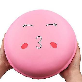 24 * 24 * 10.5cm rosa overdimensjonert macaron kake squishy sakte rebound dekompresjon leker ?for barn, voksen az8426