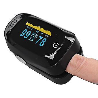 أسود نبض الإصبع oximeter الأكسجين الدم spo2 رصد az6615