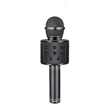 Siyah kablosuz bluetooth el karaoke mikrofon, taşınabilir ev hoparlörü az3898