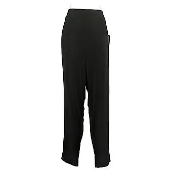 IMAN Global Chic Women's Pants 1XLT Tall Ankle with Pockets Black 741779001