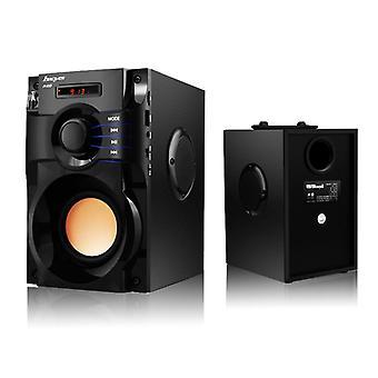 Drahtlose Bluetooth Lautsprecher Stereo Subwoofer Bass Lautsprecher Spalte Musik bluetooth(Schwarz)