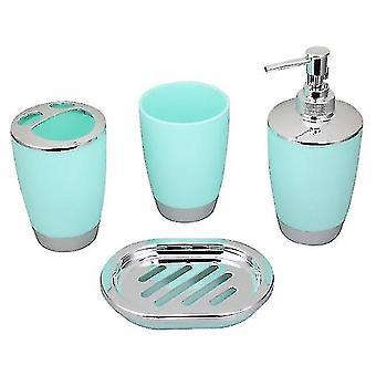 للحمام اكسسوارات الحمام مجموعة بلاستيك الحمام دعوى المنزل كأس فرشاة الأسنان حامل (الأخضر) WS24234