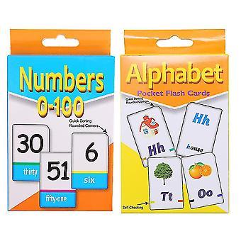 Zdjęcie 1 2 zestawy edukacyjnych kart flash zestaw angielski dla małych dzieci dzieci wczesnego uczenia się (numer alfabetu) dt3495