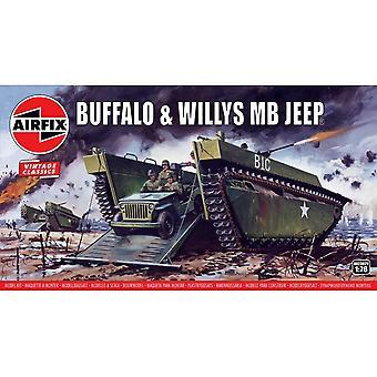 Buffalo Willys MB Jeep 1:76 Vintage Klassinen Sotilaallinen Ilma Korjaus Mallisarja