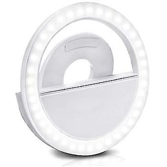 Ledes szelfilámpa okostelefonokhoz újratölthető szelficsipesz fénycsipesz gyűrű szabályozható dt7113