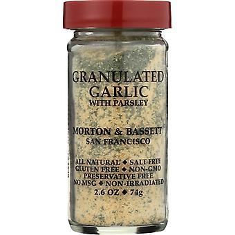 Morton & Bassett Garlic Granulated, Case of 3 X 2.6 Oz