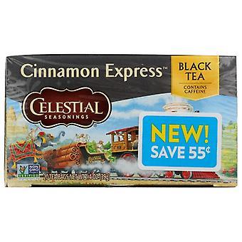 Celestial Seasonings Tea Black Cnmn Express, Case of 6 X 20 Bags