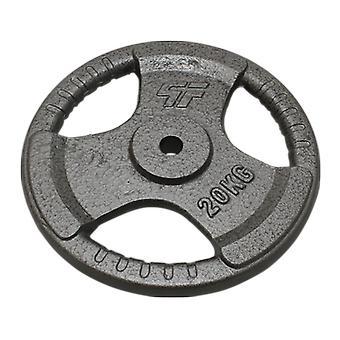Käsipainon olympialevy 20 kg - käsipainolevy 29 mm - valurauta